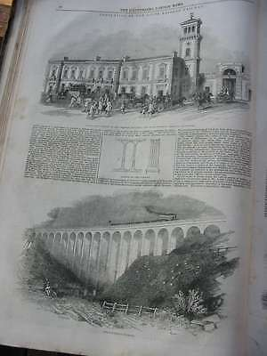 LN-1844-South Eastern Railway-Southwark-Folkstone Viaduct-Holzstich-engraving