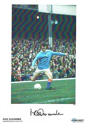 Mike Summerbee City Signed Football photo authentic autograph AFTAL dealer M225