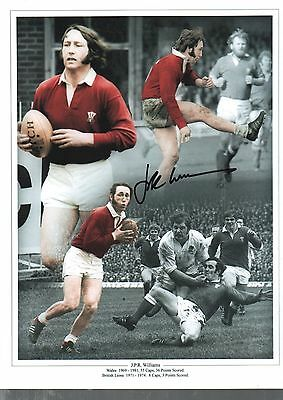 JPR Williams authentic hand signed Rugby Union photo AFTAL dealer M500