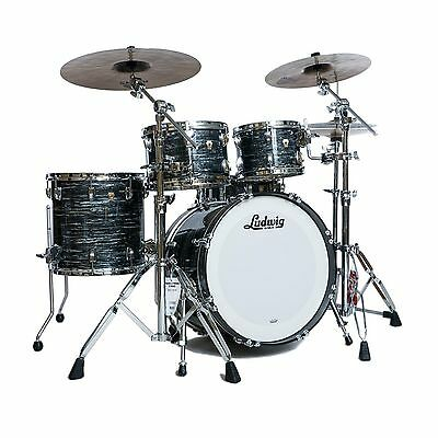Ludwig Classic Maple 4pc Vintage Black Oyster Drum Kit w/Free Snare