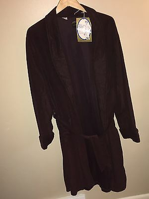 Men's Vintage Brown Bath Robe With Tags Shawl Collar Size XL JC Penney