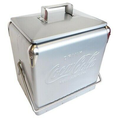 Coca-Cola Coke Silver Metal Ice Cool Cooler Box & bottle opener BBQ Perth
