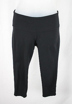 Athleta Women's Black Mid Rise Athletic Cropped Pants Leggings Size S