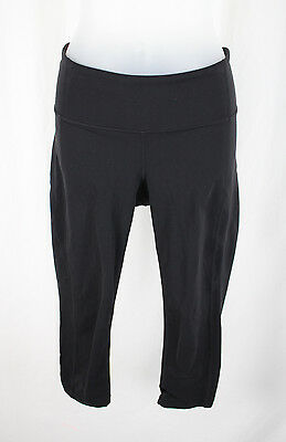 Athleta Women's Black Mid Rise Cropped Athletic Pants Leggings Size S