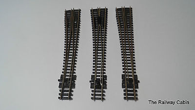 Peco N Gauge Track Point Turnouts Left Hand x 3 (g)