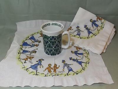 Girl Guides Diamond Jubilee Mug & 7 Paper Napkins 1910-1970