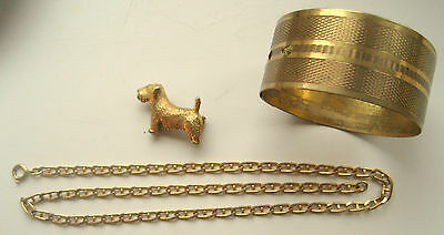 Small Lot Of Gold Coloured Jewellery