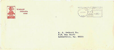 "1969 Warsaw, Indiana 6¢ Meter Cancel on Cover Advertising ""Coco Wheats"" Cereal ~"