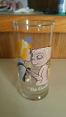 """Vintage 1982 E.T. The Extra Terrestrial """"BE GOOD"""" Drinking Glass Pizza Hut 6"""""""