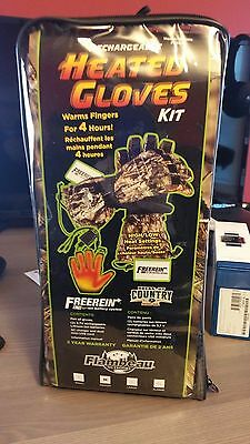 Flambeau Rechargeable Heated Synthetic Palm Gloves Kit Camo - Medium F200-CM M
