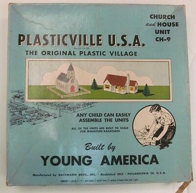 Post War Plasticville Young America Ch-9 Box Only No Reserve
