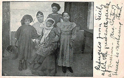 Italy,Refgees from Messina,After the Great Earthquake of Dec.1908,Used,1909