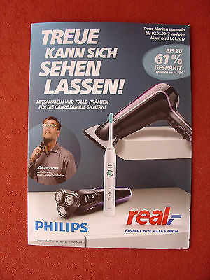 real Treueaktion 2 Sammelhefte 40 Aufkleber Philips
