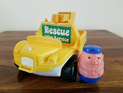 Vintage 1970's Airfix Weeble Pick Up Truck  With Driver Weeble