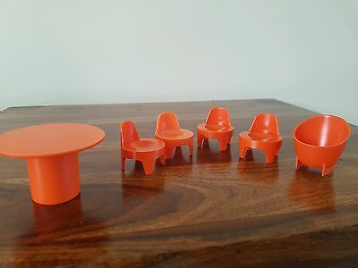 Vintage 1970's Airfix Weeble House Furniture