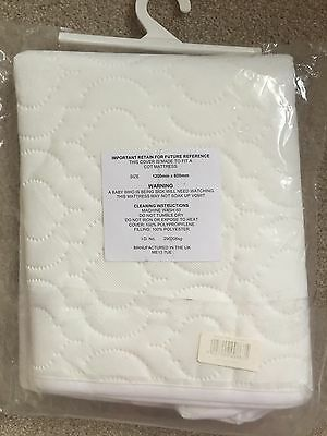 Cot Mattress Quilted Cover With Zip Bnip L@@k 120Cm X 60Cm