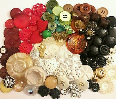 Vintage Mixed Lot Buttons ••111 total•••!