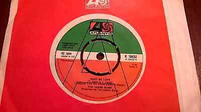 THE JAMES GANG  MUST BE LOVE near mint UK demo-promo VINYL 45 SINGLE