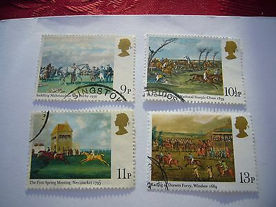 Horseracing Paintings and Bicentenary of the Derby fine used set from 1979