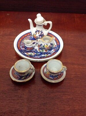 Chinese Style Miniature Two Person Coffee Set With Tray