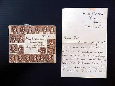GREECE 1891 Hermes 24 Stamps on Cover to England with Letter XZ49