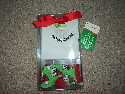 Baby christmas romper and socks aged 0-6 months