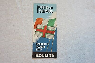 1950 Dublin & Liverpool Railway Timetable Irish Steam Packet Co