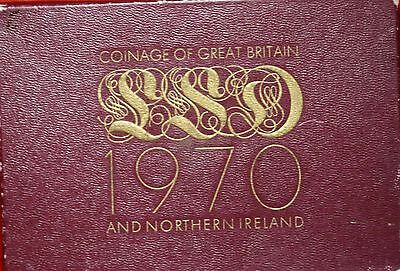 Uncirculated 1970 Coinage Of Great Britain & Northern Ireland Set Free S/H