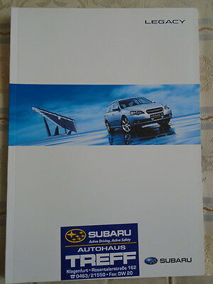 Subaru Legacy range brochure Aug 2005 Austrian market German text