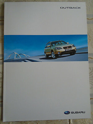 Subaru Outback range brochure 2006 German text