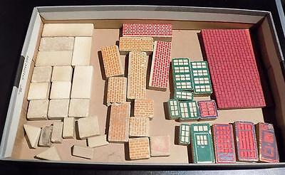 Assorted Stone Building Bricks, Asst Shapes + Sizes, Approx 40. Unknown Maker