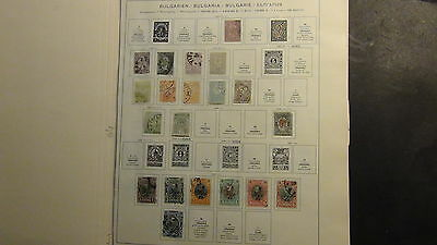 Bulgaria Stamp collection on Schaubek pages, etc.