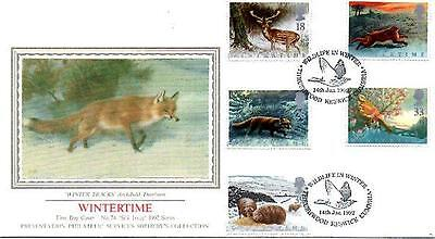 Sotheby's Silk No.74 Wintertime Fdc 14-1-92 Thrushwood Keswick Shs F9