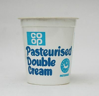 1970s CO-OP CRS WORCESTER dairy cream tub milk bottle reference