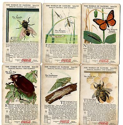 Coke Coca Cola World of Nature Insects Trading Cards Series VIII