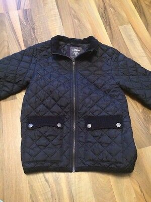 H&M navy quilted kids Coat Jacket age 8-9-10