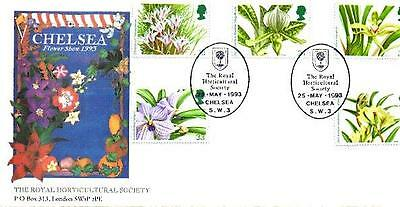 Rhs Official Official Orchids Fdc 25-5-93 Rhs Chelsea Sw3 Shs F9