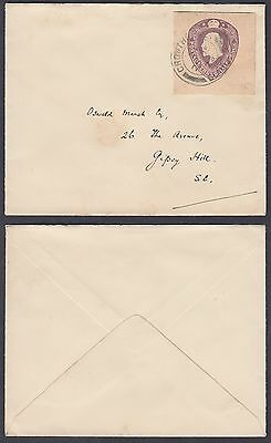 1923 KEVII 1 1/2d Stationery Cut-out on Cover; Crowthorne / Berks CDS; ES41