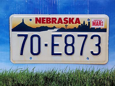 1994 Nebraska License Plate 70 E873 Exc Cond Natural Dakota County