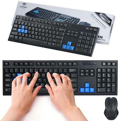 1Set 2.4G Wireless Optical Mouse and Keyboard for Desktop Laptop PC Mac New