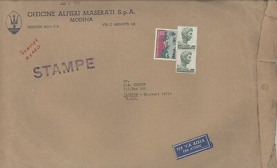1973 Maserati ORIGINAL EMPTY Factory Mailing Envelope ww3914