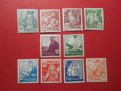 PORTUGAL - 1941 COSTUMES complete set of 10 - FINE LIGHTLY MOUNTED MINT cat £70