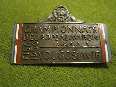 FISA 1956 European Rowing Championship PARTICIPANT enamel badge  pin
