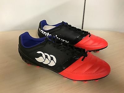 Canterbury Pheonix Club FG Moulded Stud Rugby Boots  rrp £55 UK 9 Red/Black
