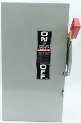 New GE TH4322 60 Amp 240V 3W Heavy Duty Fusible Safety Switch NIB