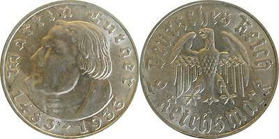 2 Reichsmark 1933 A Luther  vz/Stgl. #29381