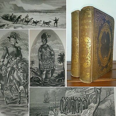 1862 NORTH & SOUTH AMERICA ILLUSTRATED Henry Brownell 2 Vol Set 1st ENGRAVINGS