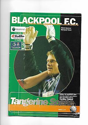 Blackpool  v  Carlisle United, 7th September 1997