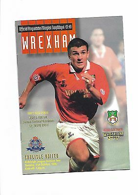 Wrexham  v  Carlisle United, 31st October 1995