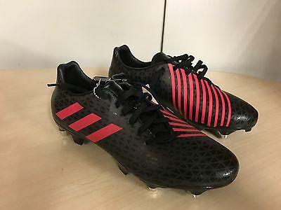 Adidas Malice SG Rugby Boots  rrp £65 UK 8 Black
